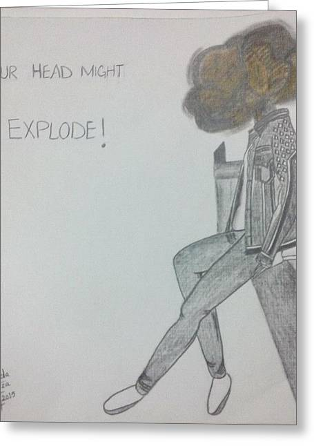 Exploding Head Greeting Cards - Explode Greeting Card by Syeda  Fiza