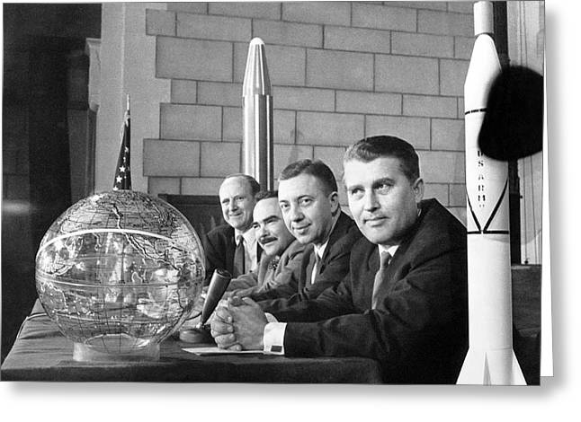 Explorer Space Scientists Greeting Card by Underwood Archives