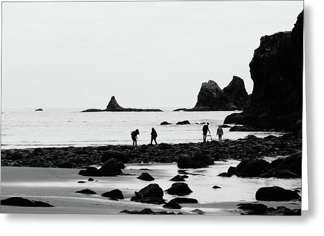Explorers On The Coast Of Washington Greeting Card by Dan Sproul