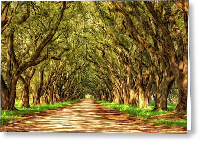 Exploring Louisiana - Paint Greeting Card by Steve Harrington