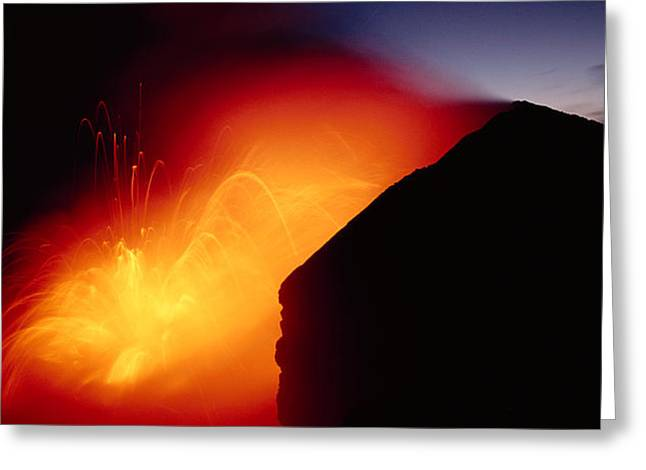 Explosion At Twilight Greeting Card by William Waterfall - Printscapes