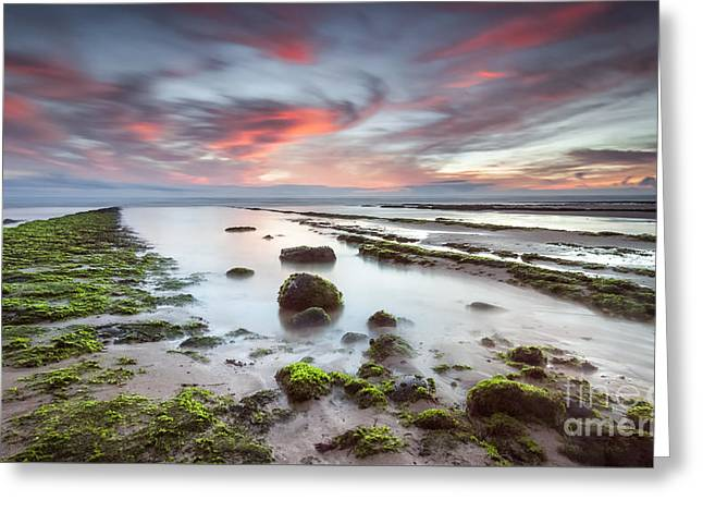 Ocean Art Photos Greeting Cards - Explosion of colors Greeting Card by Henrique Silva