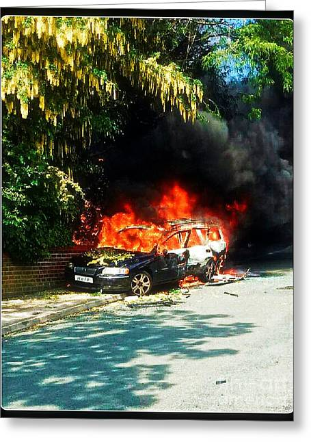 Terrorism Greeting Cards - Explosive Car Bomb Greeting Card by Michael Braham