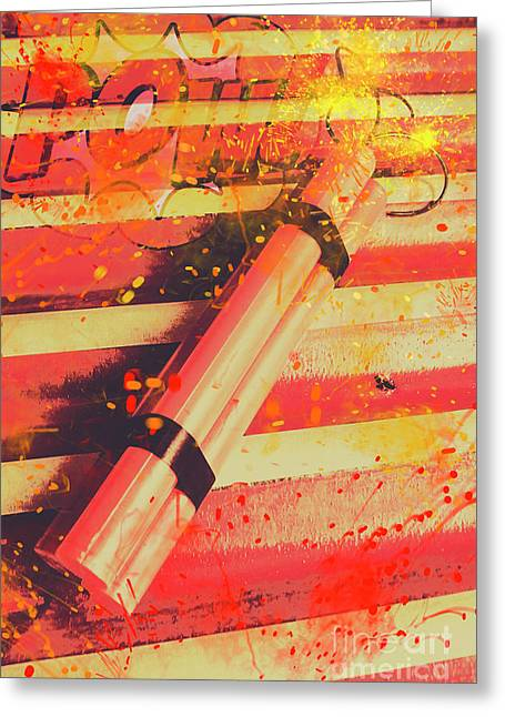 Explosive Comic Art Greeting Card by Jorgo Photography - Wall Art Gallery