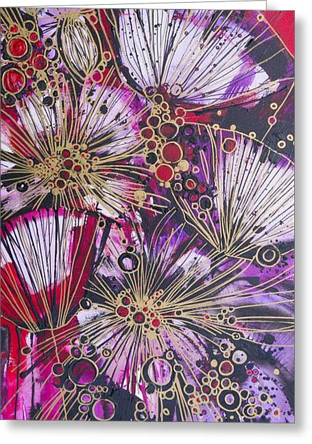Floral Artist Greeting Cards - Explosive Flowers Greeting Card by Irina Rumyantseva