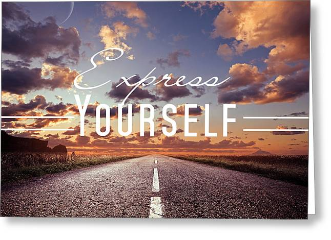 Express Yourself Greeting Card by Mark Ashkenazi