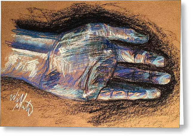 Reach Pastels Greeting Cards - Expressive Hand Greeting Card by Will M