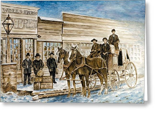 Horse Driven Wagon Greeting Cards - Expressly Western Greeting Card by Traci Goebel