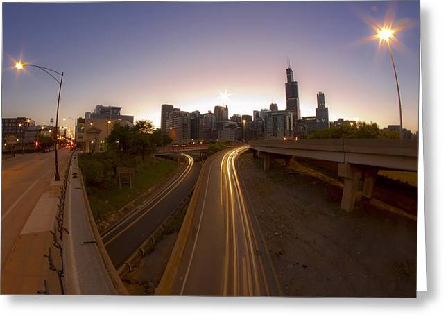 Spaghetti Greeting Cards - Expressway Streaks Greeting Card by Sven Brogren