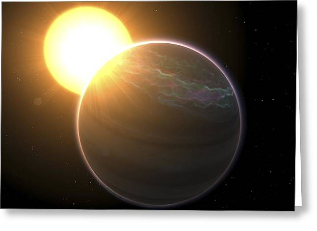Beta Greeting Cards - Extrasolar Planet Pollux B, Artwork Greeting Card by Chris Butler