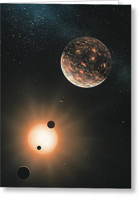 Detection Greeting Cards - Extrasolar Planets, Artwork Greeting Card by Richard Bizley