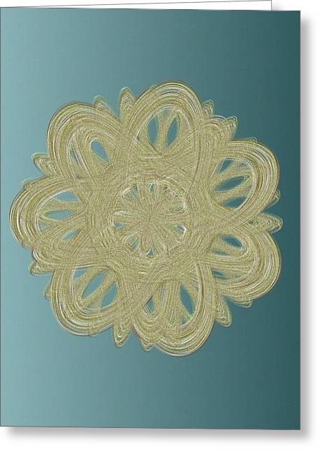 Generative Abstract Greeting Cards - Extrudicus 10-1-2015 #1 Greeting Card by Steven Harry Markowitz