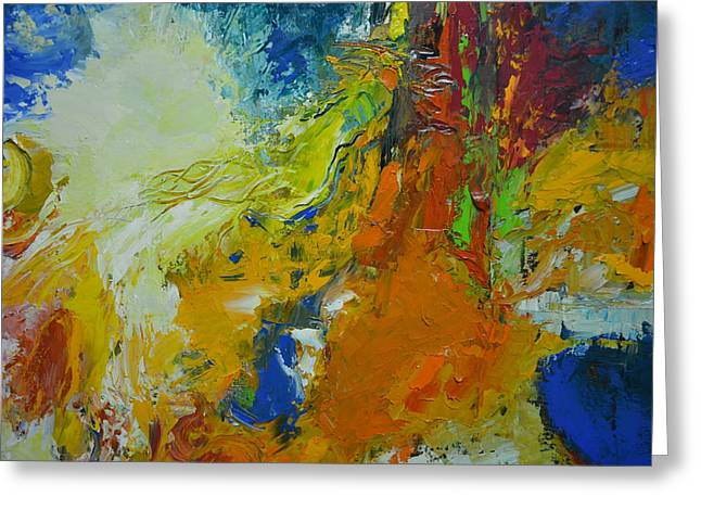 Abstract Expressionist Greeting Cards - Exuberance Greeting Card by Christopher Chua