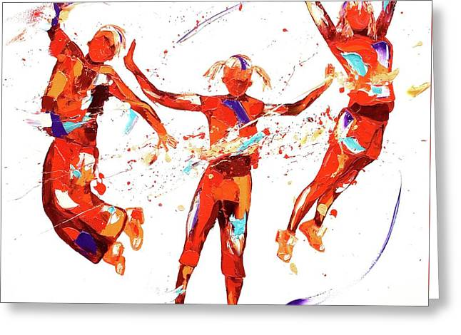 Exuberance Greeting Card by Penny Warden