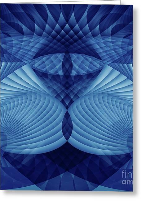 Gnarly Digital Greeting Cards - Eye and I Dream Fractal Greeting Card by Miabella Mojica