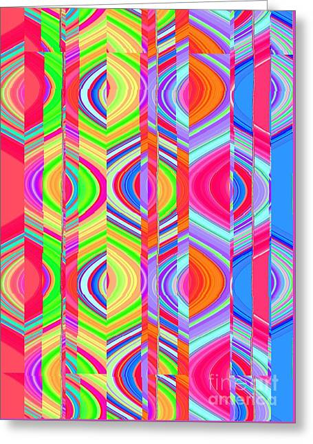 Division Greeting Cards - Eye Candy Three Greeting Card by Ann Johndro-Collins
