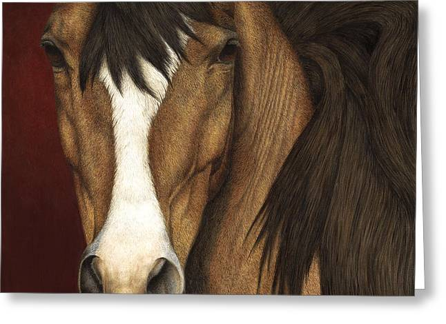 Blaze Greeting Cards - Eye Contact Greeting Card by Pat Erickson