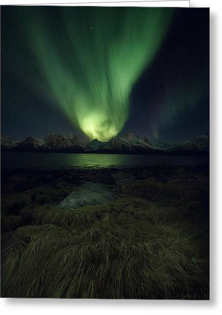 Alps Greeting Cards - Eye In The Night Greeting Card by Tor-Ivar Naess