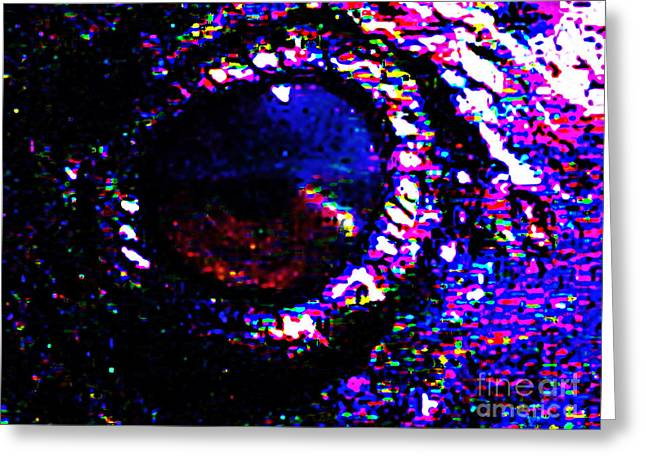 Raven Mixed Media Greeting Cards - Eye of a Raven Greeting Card by Wingsdomain Art and Photography