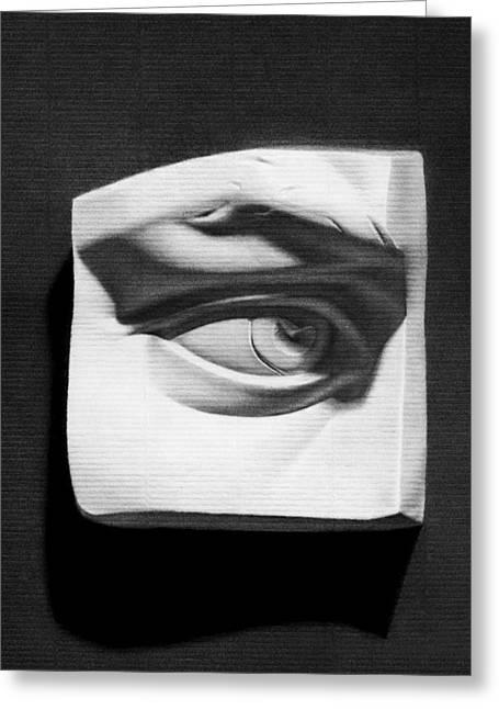 Michelangelo Greeting Cards - Eye of David Greeting Card by Nicole Daniah Sidonie