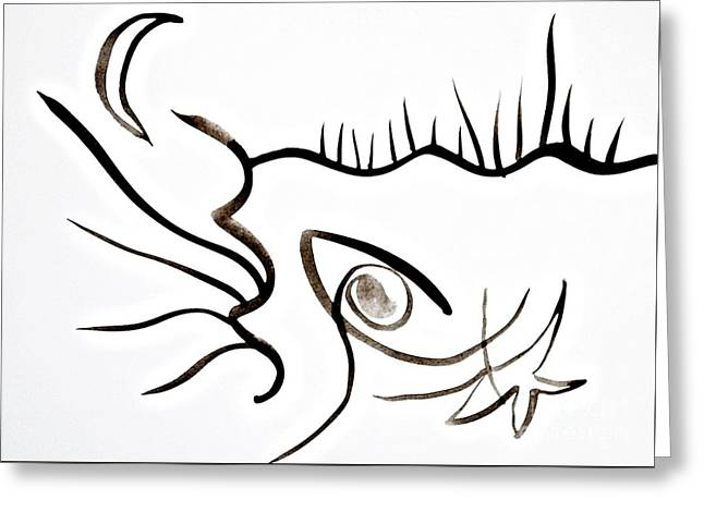 Eye Of Nature Greeting Card by Chani Demuijlder