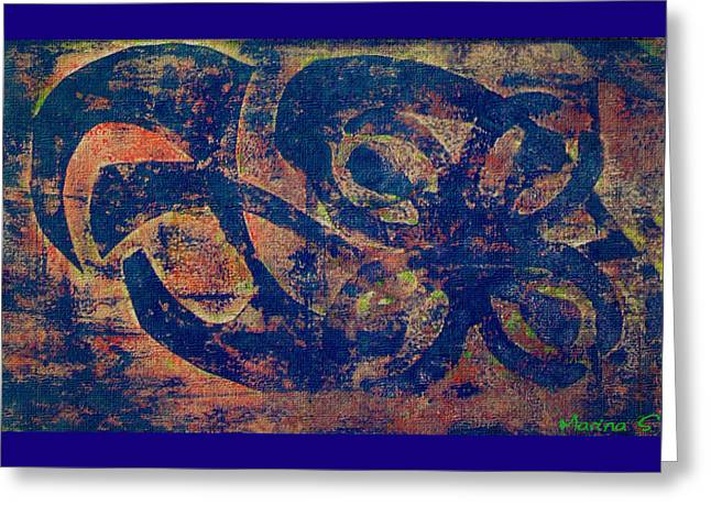 Printmaking Greeting Cards - Blue Movement Greeting Card by M Images