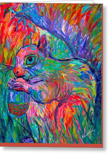Impressionist Greeting Cards - Eye of The Squirrel Greeting Card by Kendall Kessler