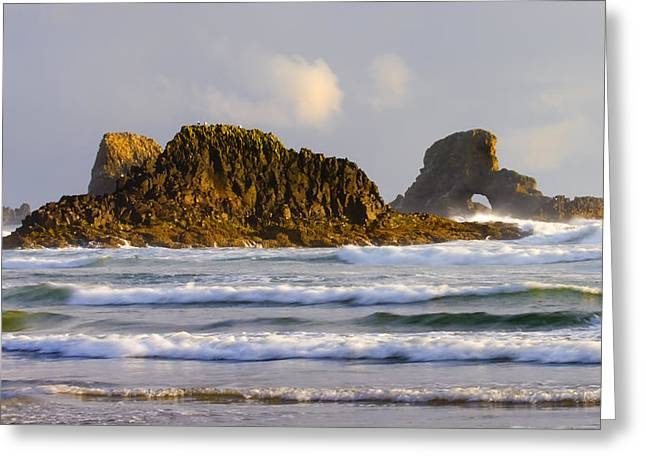 Seastack Greeting Cards - Eye of the Storm Greeting Card by Mike  Dawson
