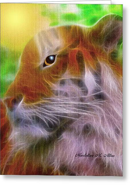 The Tiger Greeting Cards - Eye Of The Tiger Greeting Card by Madeline  Allen - SmudgeArt