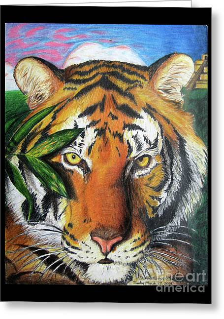 The Tiger Drawings Greeting Cards - Eye of the Tiger Greeting Card by Stephen Arnold