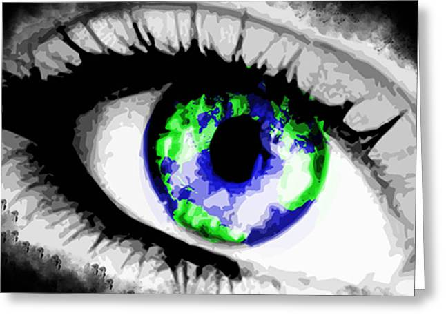 Eye Of The World Greeting Card by Danielle Kasony