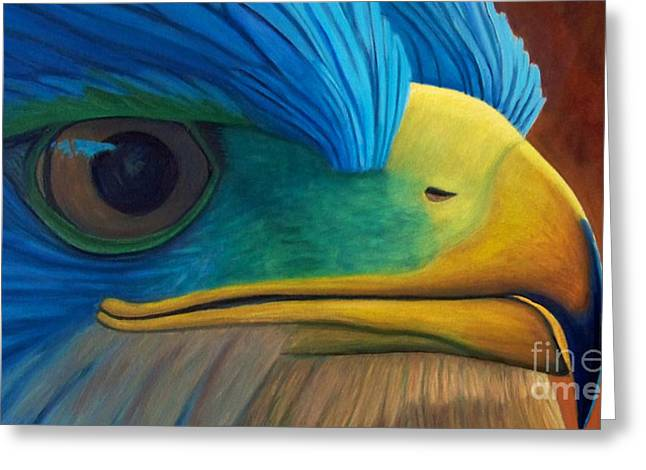 Hawk Greeting Cards - Eye on the Prize Greeting Card by Brian  Commerford