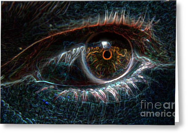 Photomanip Greeting Cards - Eye See You Greeting Card by Stephanie Cass