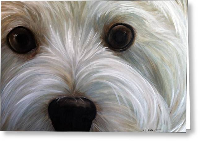 Westie Cards Greeting Cards - Eye See You Too Greeting Card by Mary Sparrow