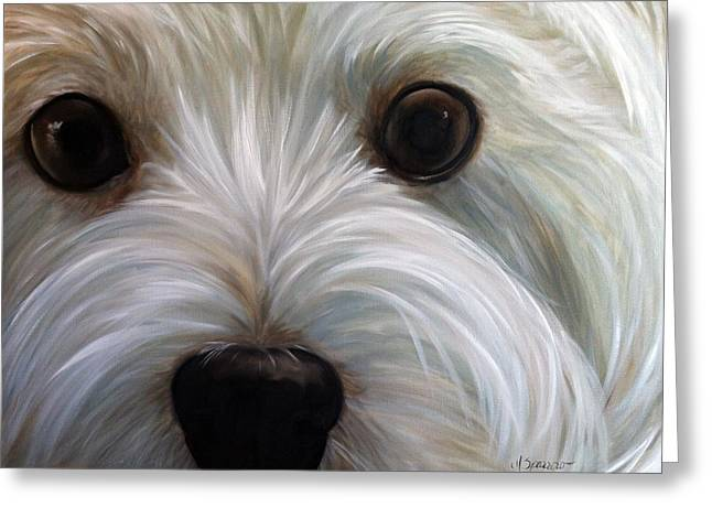 Canine Framed Prints Greeting Cards - Eye See You Too Greeting Card by Mary Sparrow