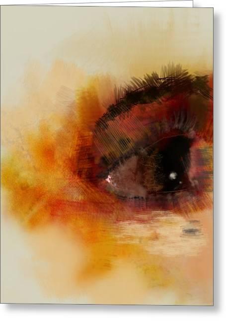 Eye Study Greeting Cards - Leah Greeting Card by Ryan Lundy