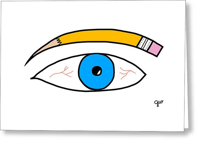 Eyebrow Greeting Cards - Eyebrow Pencil Greeting Card by George Wachob