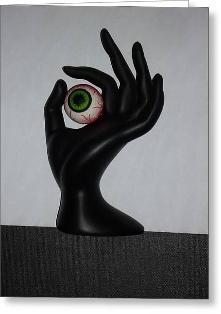 Hands Sculptures Greeting Cards - EyeHand Greeting Card by Douglas Fromm