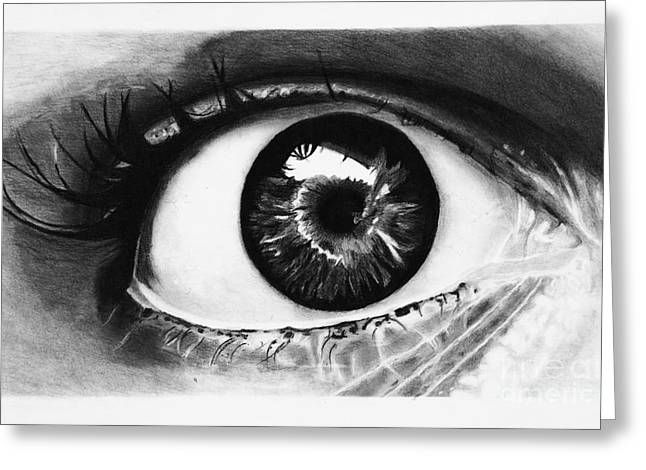 Souls Greeting Cards - Eyes are the Window of the Soul Greeting Card by Isabellas Artstudio