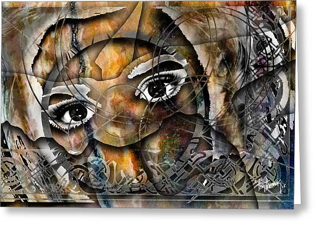 Souls Greeting Cards - Eyes of a Soothsayer Greeting Card by Tim Thomas