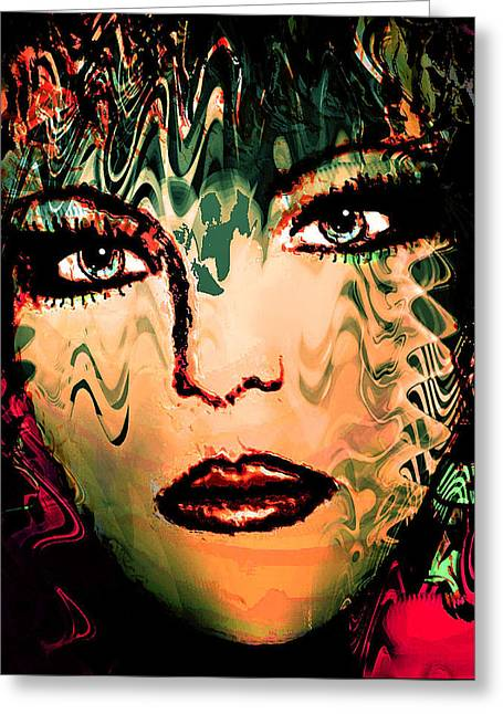 Chin Up Mixed Media Greeting Cards - Eyes of an Artist Greeting Card by Natalie Holland