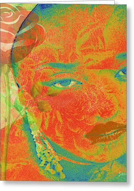 Eyes Of Nigeria Greeting Card by Fania Simon