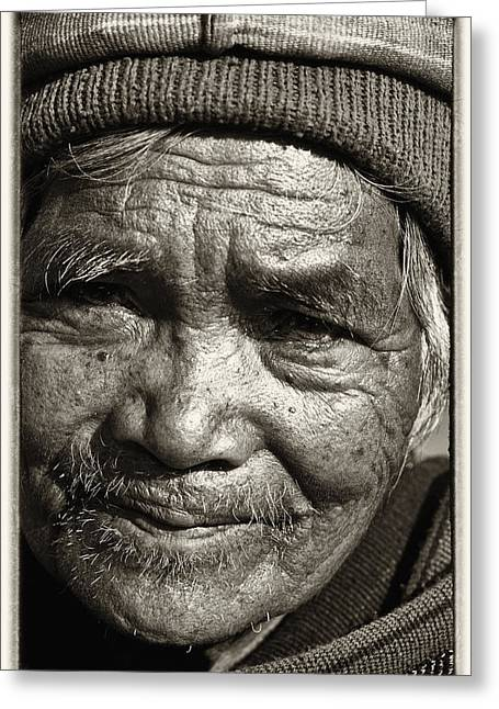 Aborigine Greeting Cards - Eyes of Soul 2 Greeting Card by Skip Nall