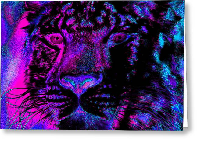 Jaguar Art Greeting Cards - Eyes of the Jaguar Greeting Card by Nick Gustafson