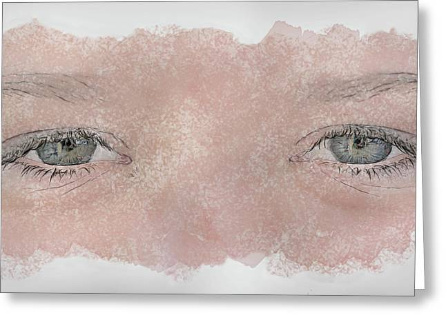 Youth Mixed Media Greeting Cards - Eyes of Youth Greeting Card by Randy Steele