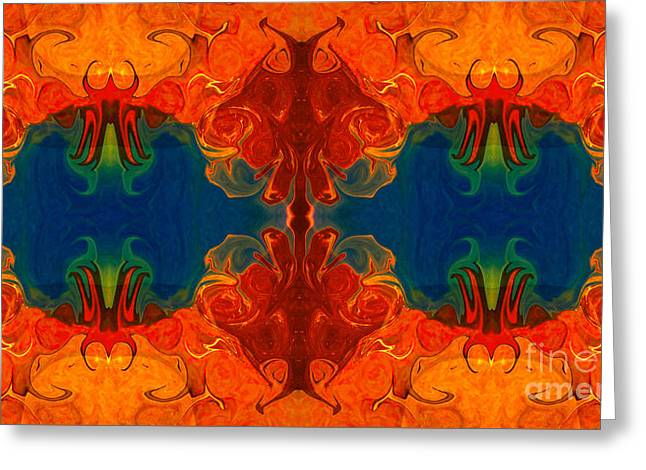 Eyes On The Future Abstract Design Artwork By Omaste Witkowski  Greeting Card by Omaste Witkowski