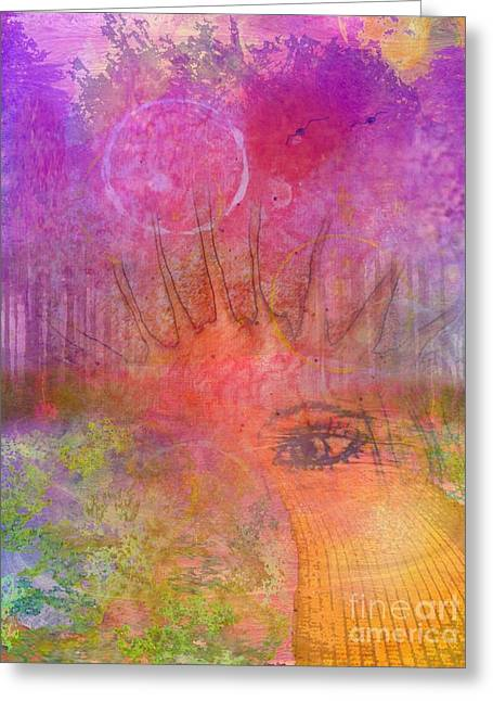 Self Discovery Greeting Cards - Eyes to the Soul Greeting Card by Desiree Paquette