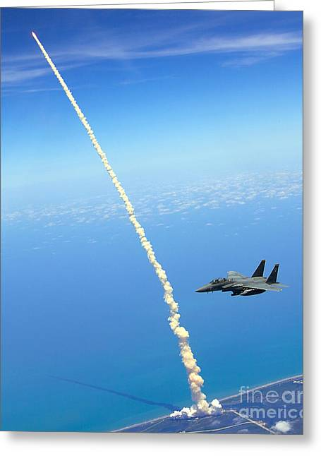 F-15e Strike Eagle Greeting Card by Celestial Images
