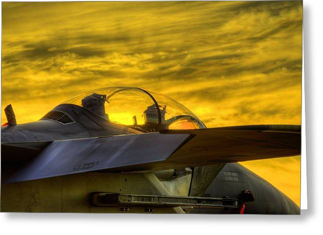 F-15e Sunset Greeting Card by JC Findley