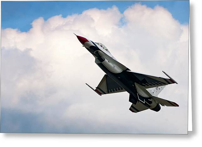F-16 Falcon Greeting Card by Murray Bloom